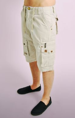 Cargo Shorts with Drawstring Waist